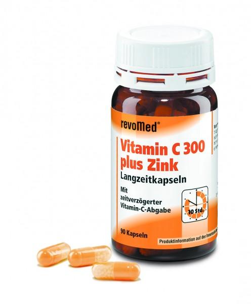 Vitamin C 300 mg + Zink Langzeitkapseln