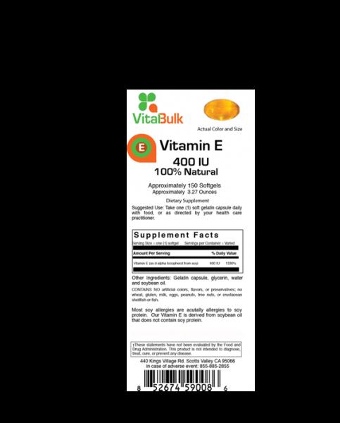 Vitamin E 400 I.E. Vitalbulk