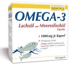 Omega 3 Lachsöl und Meeresfischöl 1000 mg