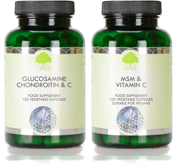 3x Glucosamin, Chondroitin & Vitamin C + 1x MSM
