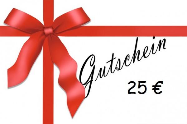 Geschenkgutschein 25,00 €