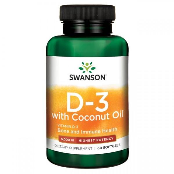 Vitamin D3 5000 IE mit Kokosöl